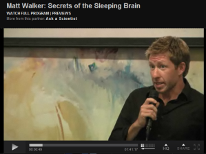 secrets of the sleeping brain - Matt Walker