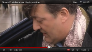 Stephen Fry talks about his depression - and voices