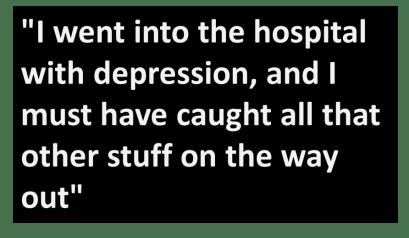 i went into hospital with depression