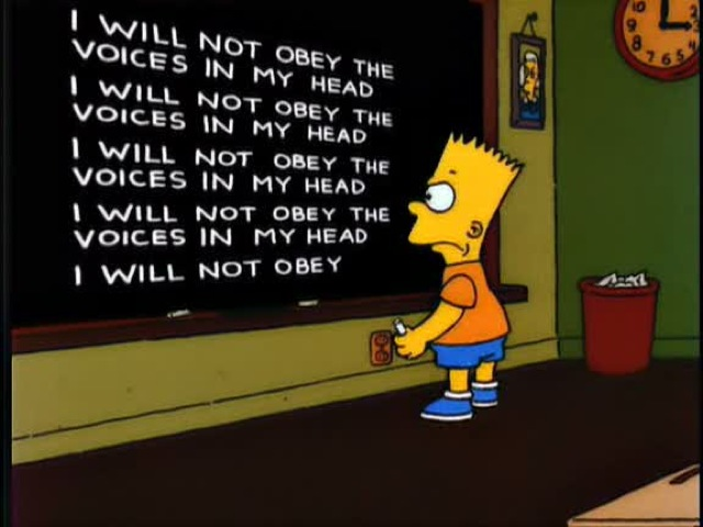 Bart's Blackboard - I must not obey