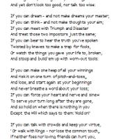 If...    Rudyard Kipling