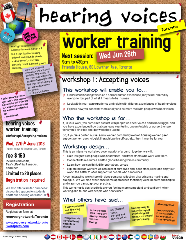 hearing voices-worker training-poster-Jun 2013