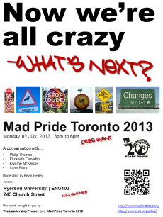 Now we're all crazy -8thJul2013 poster
