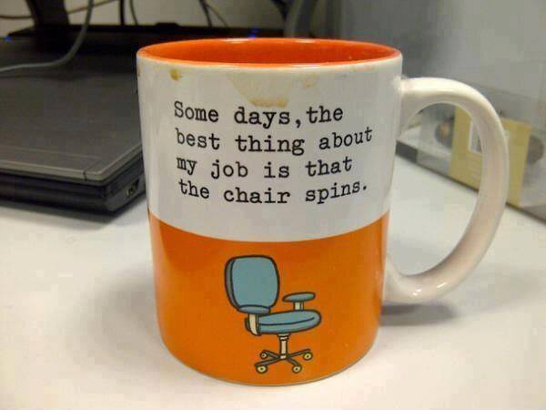 my chair spins