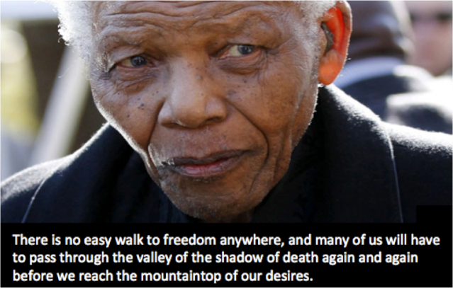 there is no easy walk to freedom