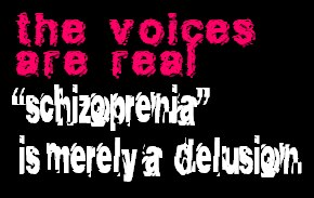"""teh voices are real - """"schizophrenia"""" is merely a delusion"""