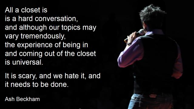 Ash Beckham - all a closet is...