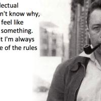 I always feel like I'm guilty of something - Albert Camus.