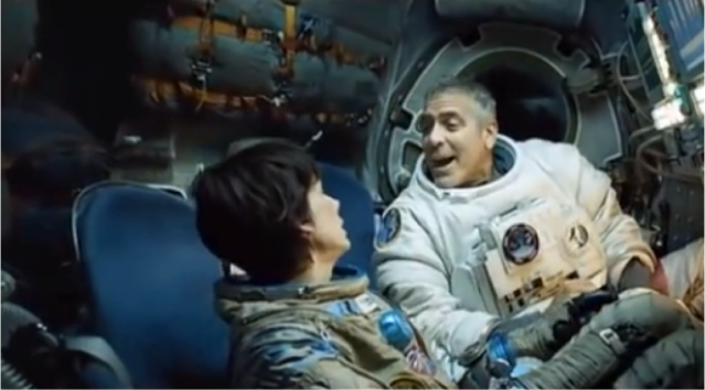 george Clooney in space