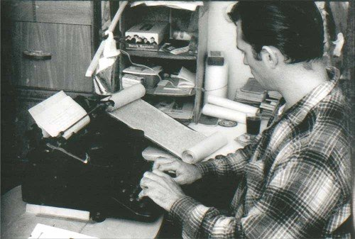 Kerouac with Scroll