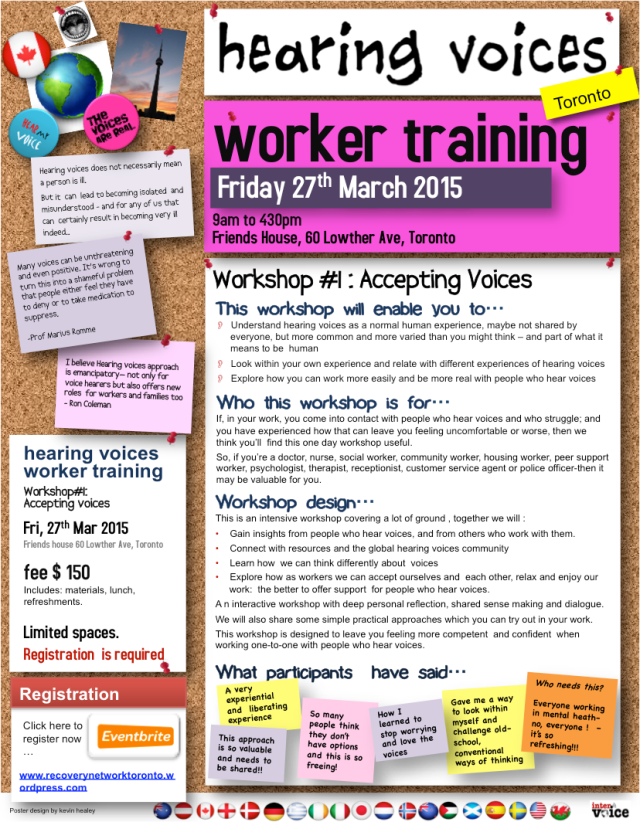 Hearing Voices Worker Training #Accepting Voices 27Mar2015