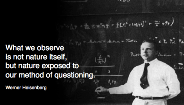 what we observe...