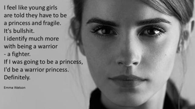 emma watson warrior princess