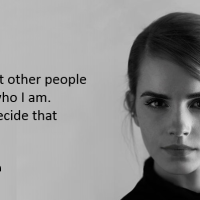 I don't want other people deciding who I am.
