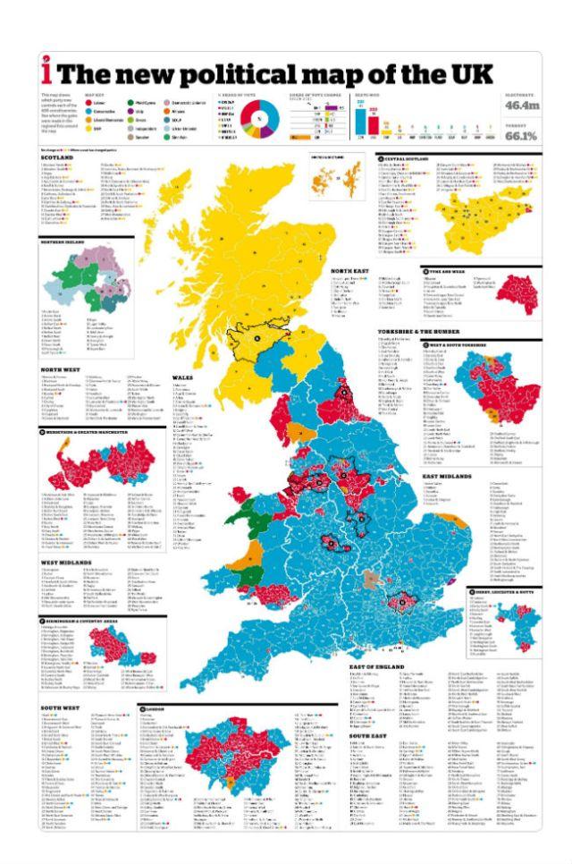 plitical map f uk