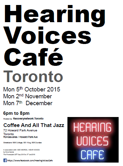 Hearing Voices Cafe Toronto- 5Oct2015