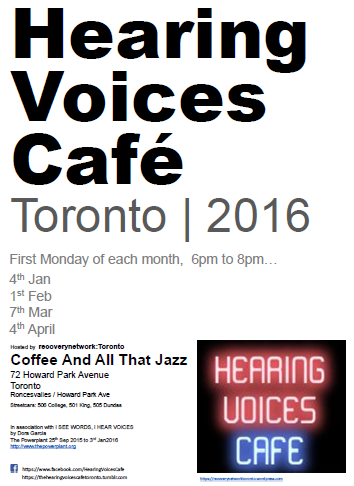 Hearing Voices Cafe Toronto 2016