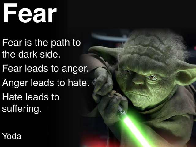 fear - yoda