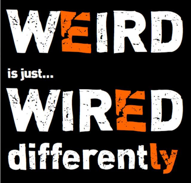 weird is just