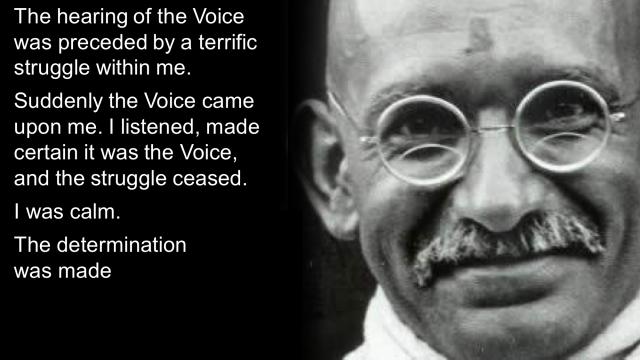 Gandhi the voice III