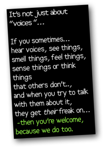 if you hear voices...