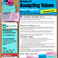 Workshop#1- Accepting Voices @ UoT: Fri 27 October 2017