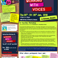HV Workshop #2: Working With Voices - OSHAWA 25th-26th Jan 2018