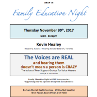 Family Education Night - Whitby - Thu 30th Nov