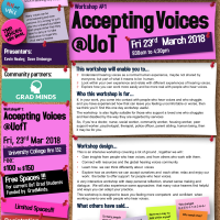 Accepting Voices @ UoT Fri 23rd Mar 2018
