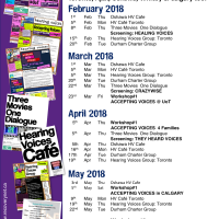 Hearing Voices Calendar - Feb to May 2018