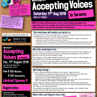 Workshop#1: Accepting Voices - Toronto - 11.Aug.2018