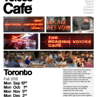 Hearing Voices Cafe Toronto - Fall 2018