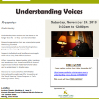 Understanding Voices: Ontario Shores. Sat 24th Nov 2018