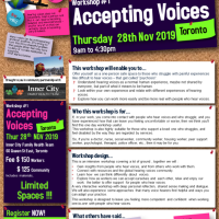 Hearing Voices Workshop #1 Accepting Voices - Thu 28th November 2019