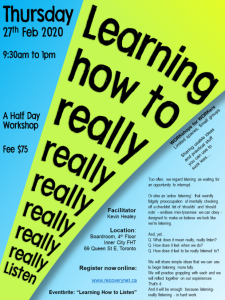 learning how to really really really listen - 27feb2020
